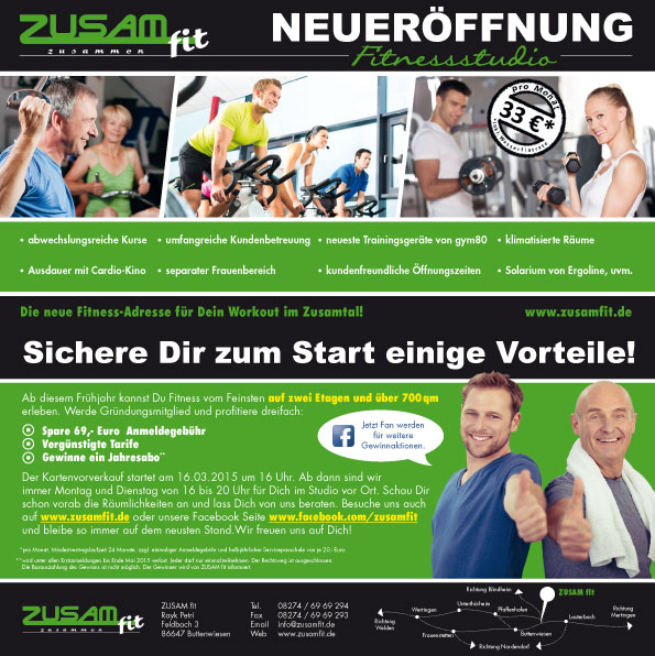 Flyer ZUSAM fit